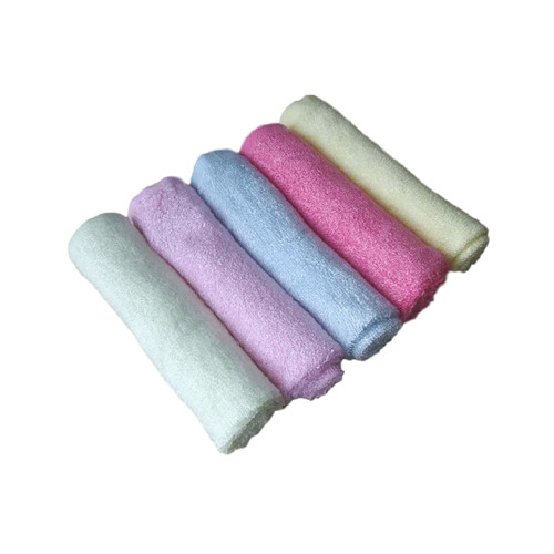 Newborn Baby Bamboo Washcloths rolled up in 5 colors