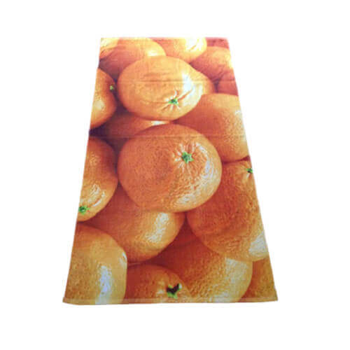 digital print beach towel with orange pic
