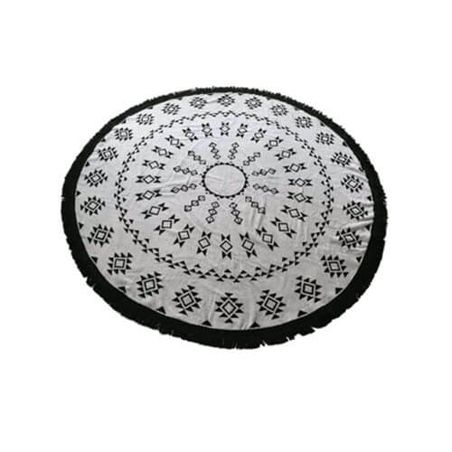 jacquard pattern of cotton round beach towel