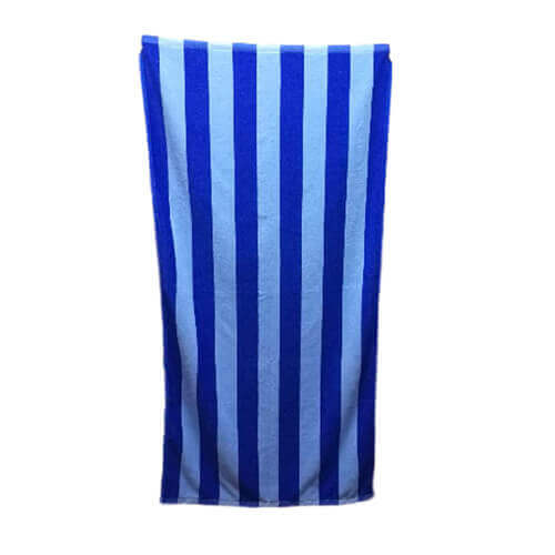 blue microfiber striped bath towels