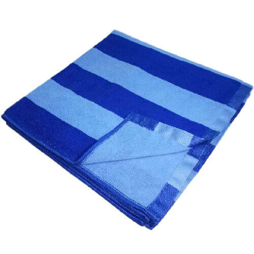 edge view of microfiber striped bath towels