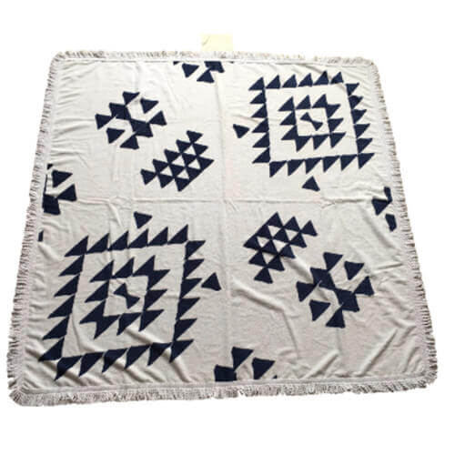 square shape cotton towel mat with printing