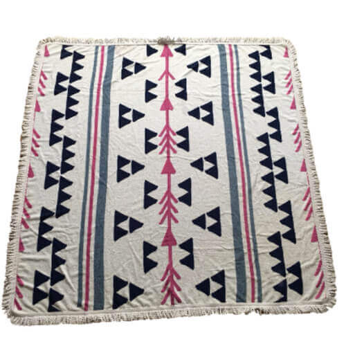 square shape printing cotton mat towel