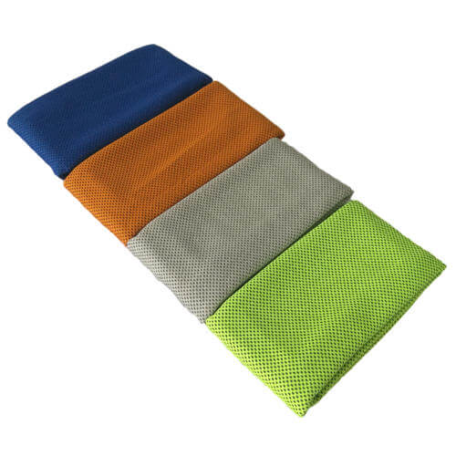 folded cooling towels in 4 colors