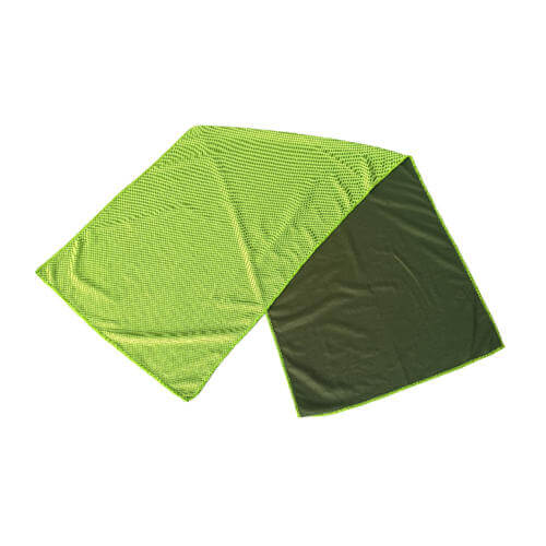 green cooling towel