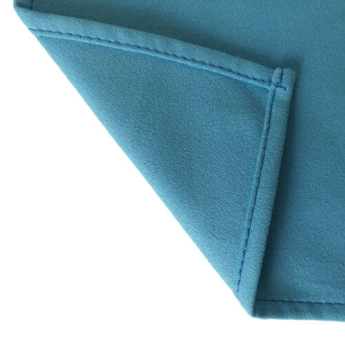 edge view of microfiber kitchen hand towels