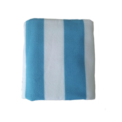 blue stripes printing microfiber beach towel