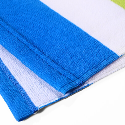 edge view of 100% polyester microfiber towel